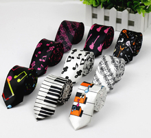 Free Shipping New Fashion Novelty Men's Music Tie Piano keyboard Guitar Music Note Necktie