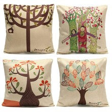 Hot Lovely Family Pillow Case Cover Throw Back Pad Flower Pillowcase Coffee Shop Home Living Office Relax Bed Room Decorative