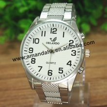 50pcs/lot New Arrival Classical Quartz Watches Man Metal Watch Cheap Fashion Man Style Steel Wrist Watch(China)