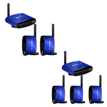 New PAT-630 5.8GHz Wireless Audio Video AV Sender 1 Transmitter & 2 Receiver 200M(without IR)