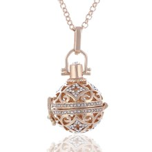 Fashion Jewelry Angel Ball Bola Metal Copper Magic Box Perfume Diffuser Pregnant Women Pendant in Charm Necklace for women gift(China)
