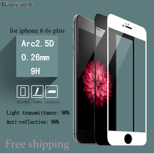9H 3D Full Coverage screen Protection on the for iphone 6 Protective glass for iPhone 6s Tempered film glass screen protecto