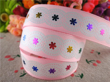 New arrival 7/8'' (22mm) 10 yards light pink printed grosgrain ribbons cartoon characters ribbon hair accessories 15040531(China)