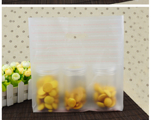 Matte Clear Plastic Cake Cookies Baking Bread Packaging Bag with Handles Plastic Bag Gift Package Bags 100pcs/lot