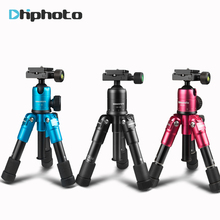 ulanzi CAMBOFOTO M225+CK30 Portable Aluminum Tripod Compact Desktop Table Tripod with Ballhead for Sony Canon Nikon DSLR Camera(China)