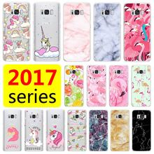 Phone Case For Samsung Galaxy S6 S7 S8 S9 edge plus Note8 J3 J5 A3 A5 J7 A7 2017 Unicorn Granite Marble Soft Silicone Back Cover(China)