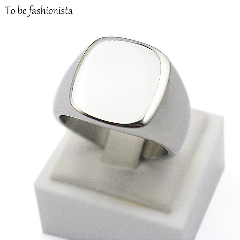 Bulk sale wholesale Engrave Polished Plain custom design silver titanium Stainless steel jewelry customized signet ring band(China (Mainland))