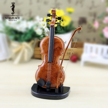 Retro Violin Music Box Simulation Musical Instruments Creative Birthday Gifts for Children Kids Toys Office Desk Home Decoration(China)