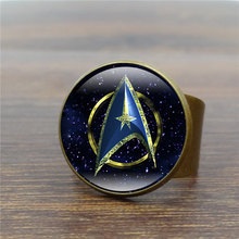 Movie Star Trek Vintage Ring Handcrafted Art Glass Dome Rings for Women Jewelry Adjustable Antique Ring Wholesale