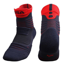 New Men Elite Outdoor Sports Basketball Socks Men Cycling Socks Thicker Towel Bottom Non-slip Male Compression Socks Men's socks(China)