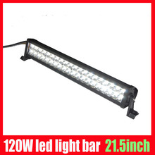 wholesale high power 7800 lumens led work light led offroad light bar 12v 120w SUV 10v-30vdc Truck Miner lamps free shipping