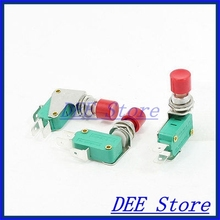 micro contact switch SPDT 3-Terminal Red Button Actuator Momentary Mini Limit Microswitch