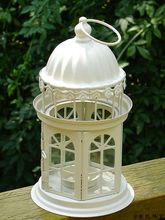 Fashion iron lantern wedding candle windproof table home decoration romantic