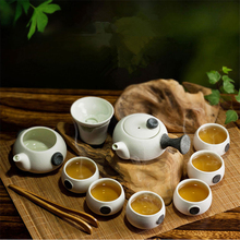 10pcs/set ceramic tea set Chinese drinkware kungfu tea cups jingdezhen porcelain tea cups tea pot kettles Chahai set gifts
