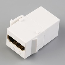 NEW HDMI Wall Installation Female to Female Coupler Adapter Converter White color In stock!(China)