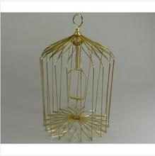 Free shipping,S Size Appearing Bird Cage Golden-Magic Trick,stage/closeup,magic tricks,fire,props,comedy