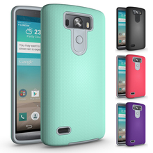 2 in 1 Shockproof Armor Coque LG G3 Case PC + TPU Hybrid Case LG G3 Cover Soft Rubber & PC Hard Phone Case For LG G3 Accessories