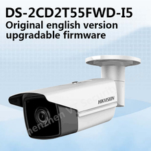 Free shipping English version DS-2CD2T55FWD-I5 5MP Network Bullet IP security Camera POE SD card 50m IR H.265+