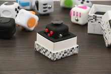 Original Fidget Cube Kickstarter Relieves Stress and Anxiety Puzzle Spinner Dice Toys For Children and Kids Fidget Cube Case Toy(China)