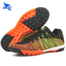 Breathable Mesh Mens Turf Soccer Shoes 2017 New Women Football Boots Cheap Futsal Sneakers Crampons De Foot Male Soccer Cleats