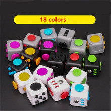 HZFZ Mini 2.8cm Fidget Cube Controller Toy Vinyl Desk Toys Squeeze Fun Stress Reliever Antistress dice Finger spinner cube