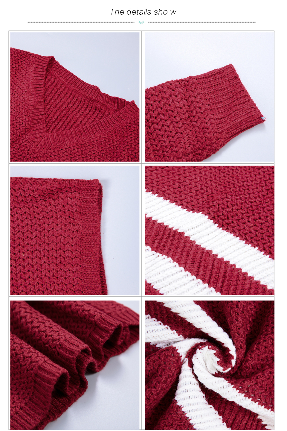 4 Colors!Spring Autumn Women Sweaters Pullovers V-neck Crop Tops Striped Long Sleeve Knitted Sweater Roupas Femininas T4N510 7