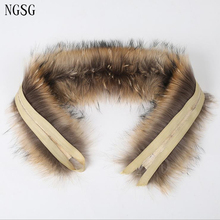 Brand Natural Real Raccoon Women Scarf Scarves Fur Collar Low Price Coat Cup Collar Winter Scarves Brown 100% Genuine Type 9012