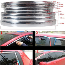 Universal Car styling Trim strip 15Meter Decorative strip Car Protector Bumper Guard Chrome Moulding Trim Strip Car sticker