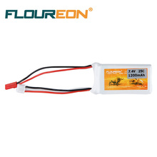 Floureon 2S 7.4V 1200mAh 25C (JST Plug)Lipo Battery RC Helicopter RC Car Truck Truggy RC Hobby Spare Part(China)
