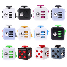 Anti Stress Mini Fidget Cube Anxiety Stress Reliever Kids Children Adults EDC Decompression Toy for Cubic Anti-stress Cubic Ruby(China)
