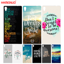 Buy HAMEINUO inspirational Motivational quotes Cover phone Case sony xperia C6 XA1 XA ULTRA X XP L1 X compact XR/XZ/XZS PREMIUM for $2.19 in AliExpress store