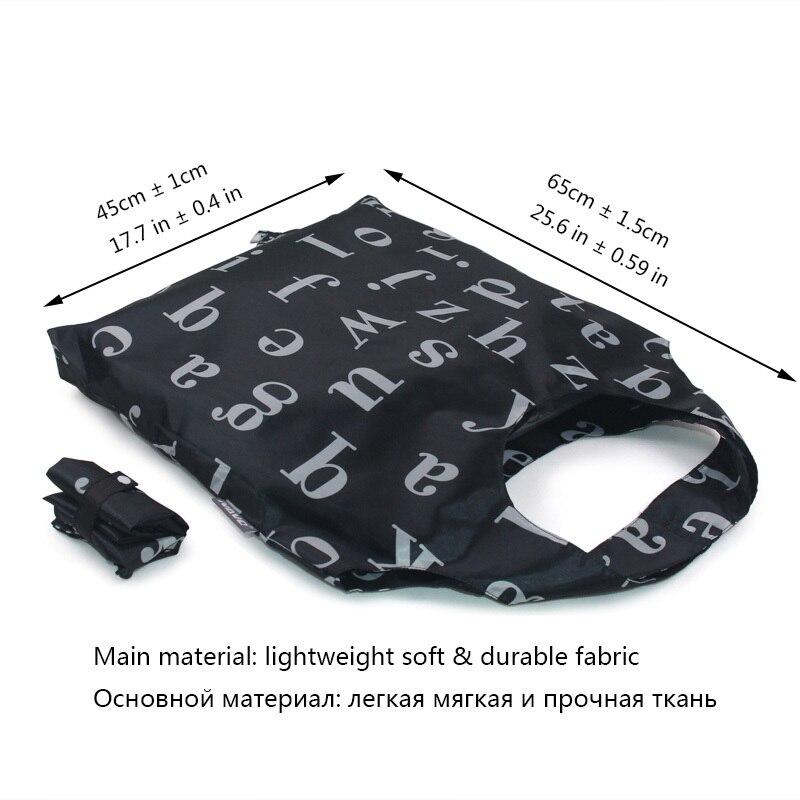 NAVO Folding Shopping Bag 45x65cm Large Big Shopper Resuable Shopping Grocery Bag for Supermarket Sac Shopping Reutilisable SP-CJ03DL190ABC-(3)