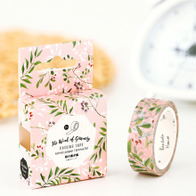 1.5*7M Wind Green Leaf washi tape DIY decorative scrapbooking masking tape adhesive label sticker tape stationery