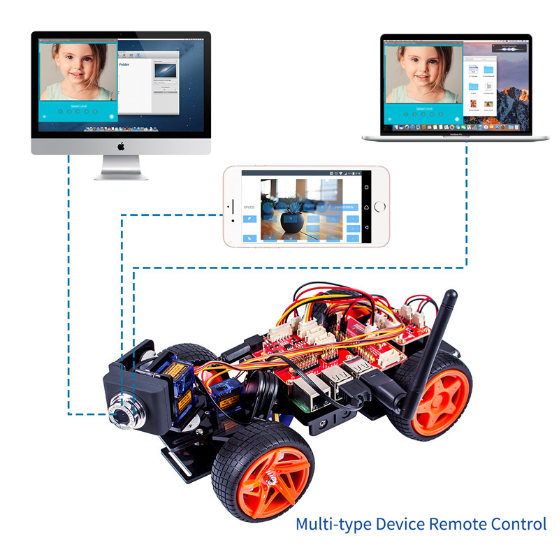 Raspberry Pi Smart Video Car Kit (3)