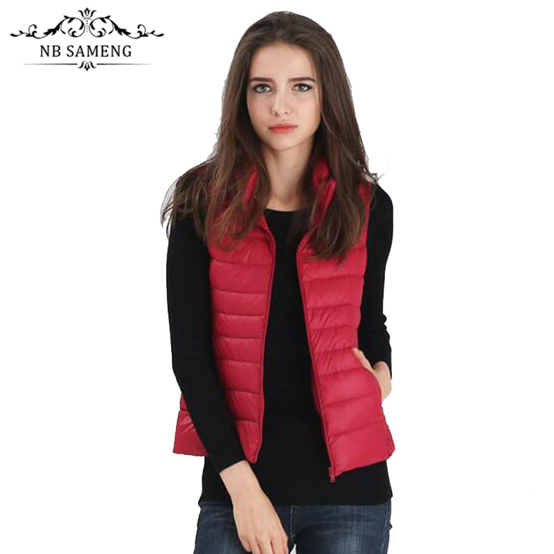2017 New Fashion Autumn Women Brand Solid Colorful Jacket Padded Vest Warm Coat Sleeveless Clothes NSWT165Одежда и ак�е��уары<br><br><br>Aliexpress