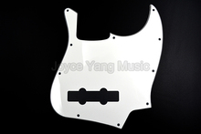 Niko White 3 PLY Electric Bass Guitar Pickguard For Fender Jazz Bass Style Free Shipping Wholesales