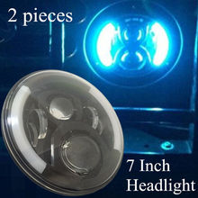 DOT E9 Mark 7 inch LED Car Headlight Hi/lo Beam Front Off road Driving Headlamp 7'' light For Jeep Wrangler Land Rover Defender