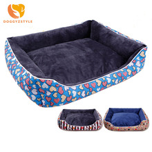 2017 Winter Warm Dog Bed Couch Soft Sofa Kennel For Small Medium Puppy Dogs Cats Washable Cushion House DOGGYZSTYLE(China)