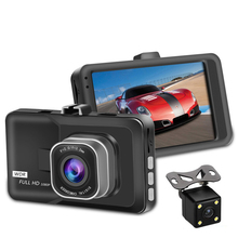 3.0 inch LCD Screen 170 degre dual lens Car DVR Dash cam Full HD 1080P with Parking Guard Support Motion Detection G-Sensor