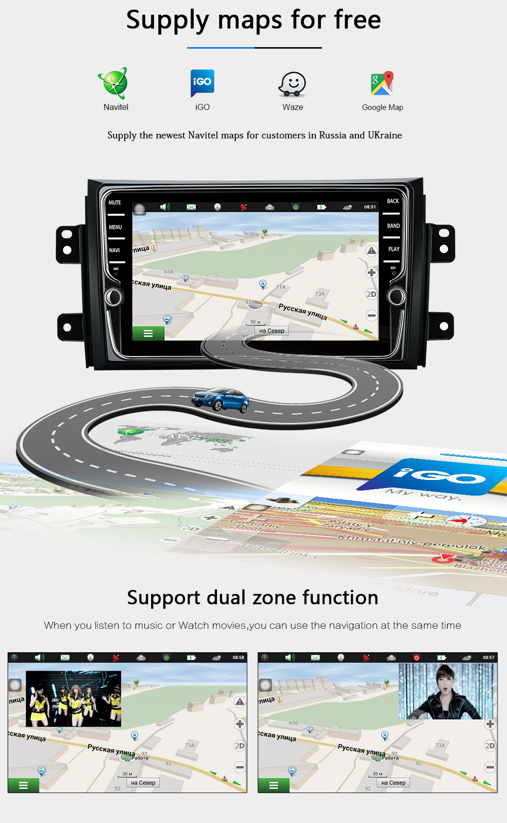 2 DIN Car Android Radio multimedia Player For Suzuki SX4 2006 2013 Quad Core 9 1024600 Bluetooth 2 Din Car DVD GPS Navigation