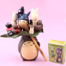 Free Shipping upgrade plush doll cute Totoro decoration for Potted plants sclupt figure models one set Miniature landscape