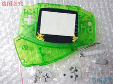 For Pokemon/Pikachu & Colorful New Screens Lens for Nintendo GBA Console Repair Complete Housing Shell Cover - Green Clear