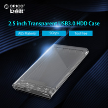 ORICO Transparent HDD Case 2.5 inch USB3.0 to Sata 3.0 Tool Free 5 Gbps Support 2TB UASP Protocol Hard Drive Enclosure(2139U3)(China)