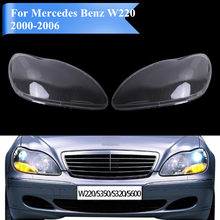 Transparent Housing Headlight Lens Cover Lamp Assembly For Mercedes Benz W220 S350 S600 S430 S500 S55 S65 amg 2000-2006 #PD555