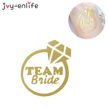 JOY-ENLIFE 1pcs Gold Flash Team Bride Temporary Tattoo Favor Bachelorette Party Hen Party Bridesmaid Supplies Wedding Decor