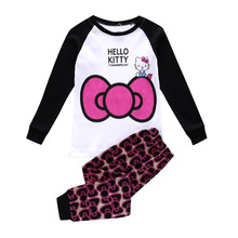 Hello Kitty Children Pajama Sets Long Sleeve Cartoon Baby Girls Pajamas Cotton Minnie Mouse Pijamas Kids Boys Sleepwear Pyjama