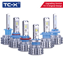 TC-X LED Car Lights H4 Long/Near DIstance H7 Dipped Beam H11 Fog Light 9006/HB4 H1 High Beam Car Headlight Fog Lamp Replacement(China)