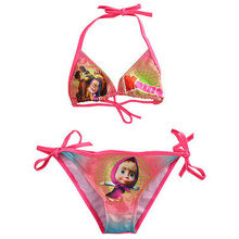 New Hot Baby Girl Summer Clothing 2017 Masha and The Bear Kids Baby Girls Bikini Set Swimwear Costume Swimsuit Bathing Clothes