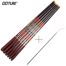 Goture Ultra Light Carp Fishing Pole with Spare Front 3 Tips Carbon Fiber Telescopic Fishing Rod 3m-7.2m(China)