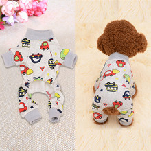 Cute Printed Pet Clothes Small Dog Jumpsuit Chihuahua Pajamas Pet  Coat for Dogs Cats Super Soft Warm Puppy Dog Costume